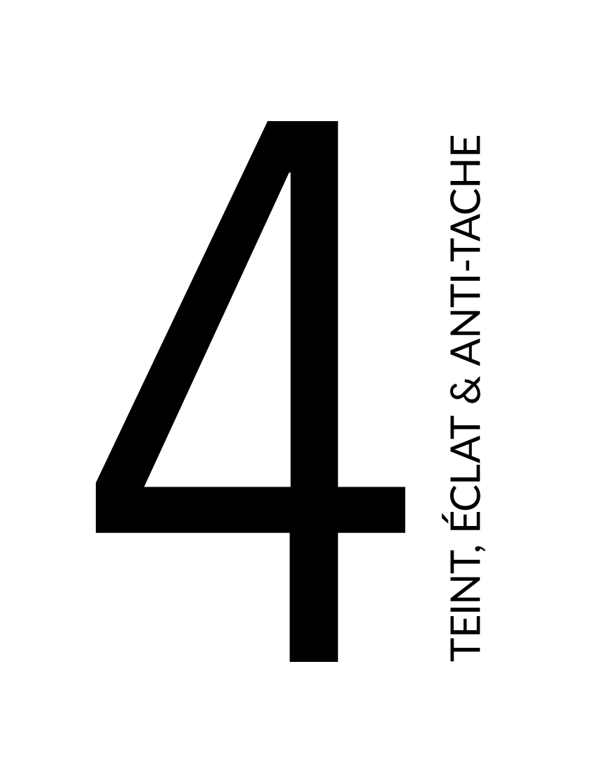 4 éclaircissant teint éclat et anti-tache