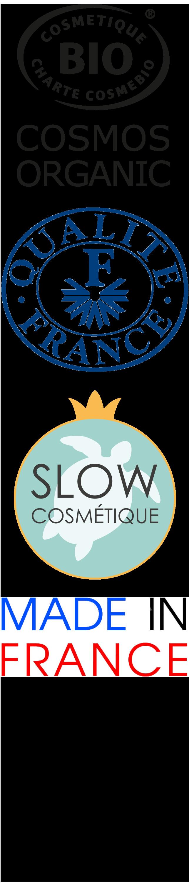 Cosmetiques organiques Non testé sur animaux Qualité France Slow Cosmetics Made in France